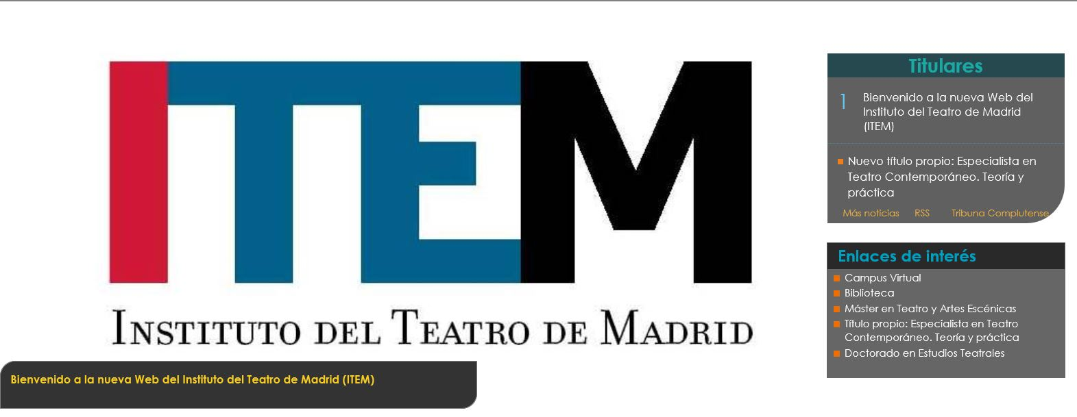 Instituto del Teatro de Madrid (ITEM)