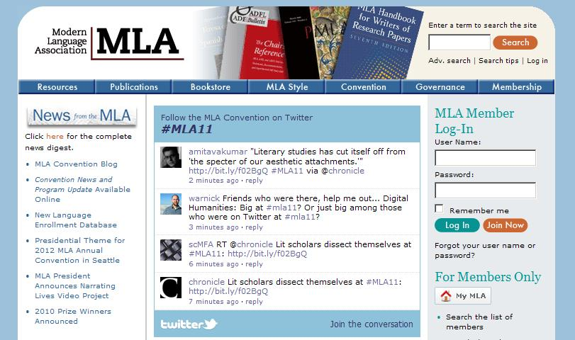 Modern Language Association of America (MLA)