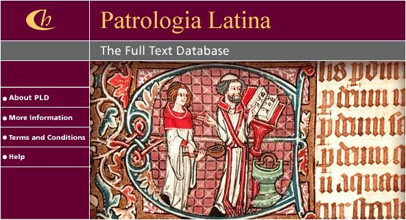 Patrologia Latina Database