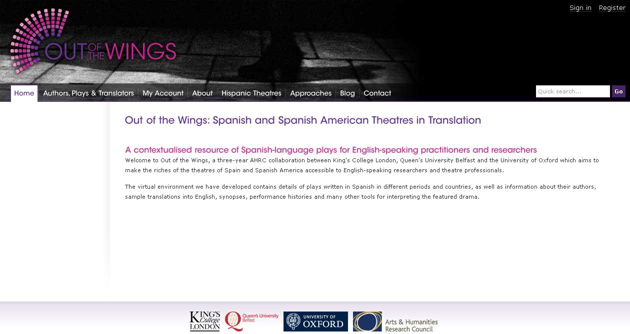 Out of the Wings. Spanish and Spanish American Theatres in Translation